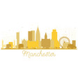 manchester england city skyline golden silhouette vector image vector image