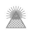 masonic illuminati symbols eye in triangle sign vector image vector image