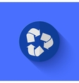modern flat blue circle icon vector image vector image