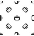 modern laser printer pattern seamless black vector image vector image