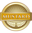 mustard gold label vector image vector image