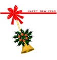 New Year Card with Christmas Poinsettia Flower vector image vector image