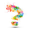 question mark symbol on white background sign vector image vector image