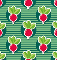 radish pattern Seamless texture with ripe radishes vector image vector image