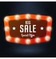 red banner with text Big Sale Billboard in retro vector image vector image