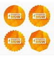 Register now sign icon Join button symbol vector image vector image