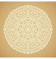 Round mandala kaleidoscopic ornamental background vector image vector image