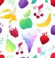 Seamless pattern of geometric fruits
