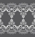 seamless pattern - vintage lace style retro art vector image
