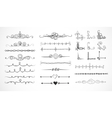 set doodle sketch decorative dividers vector image vector image