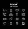 set line icons of book vector image vector image
