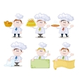 Set of cartoon cooks chefs vector image vector image