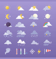 set of weather icons sun vector image