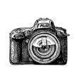 single-lens reflex camera vector image vector image