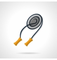 Skipping rope flat color design icon vector image