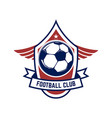 soccer football emblems design element for logo vector image vector image