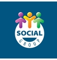 Social Group logo vector image