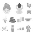 spa salon and equipment monochrome icons in set vector image