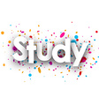 Study paper banner vector image