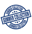 summer collection blue round grunge stamp vector image