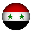 Syria flag button vector image vector image