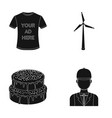 t-shirt with advertising wind generator and other vector image vector image