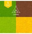 Thin Line Camping Pattern Set vector image vector image