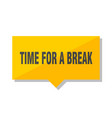 time for a break price tag vector image vector image