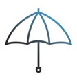 umbrella open isolated icon vector image vector image