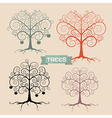 Vintage Trees Set vector image vector image
