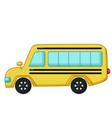 yellow school bus icon cartoon style vector image vector image