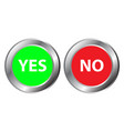 yes and no button symbol the mark is correct and vector image