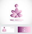 Yoga zen meditation logo vector image vector image