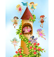 Fairies and tower vector image