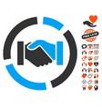 handshake diagram icon with valentine bonus vector image