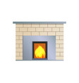 abstract fireplace colorful vector image vector image