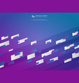 abstract stripe line colorful design decoration vector image