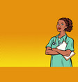 african nurse medicine and health vector image vector image