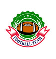 american football emblem template design element vector image vector image