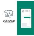 animal bear polar canada grey logo design and vector image