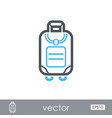 baggage outline icon travel summer vacation vector image vector image