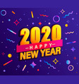 banner for 2020 new year vector image vector image