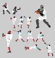 baseball pitch vector image