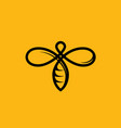 bee line yellow icon for honey beekeeping vector image vector image