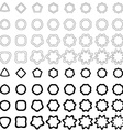 Black curved polygon shape collection vector image vector image