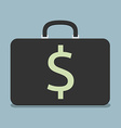 Briefcase with dollar sign vector image