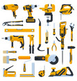 building construction tools construction home vector image vector image