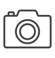 camera line icon web and mobile photo sign vector image vector image
