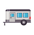 camper trailer transport vector image
