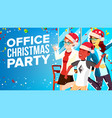 christmas corporate party having fun vector image vector image